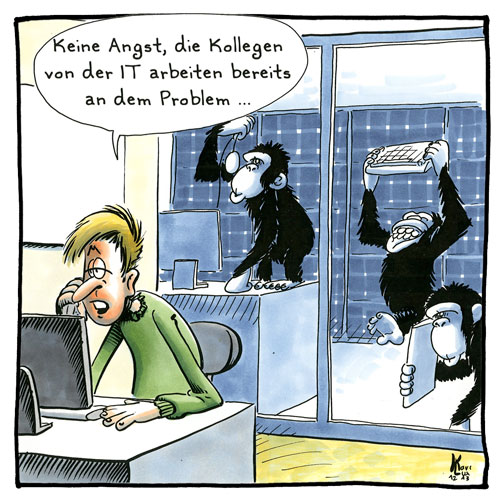 Cartoon 095, IT-Abteilung